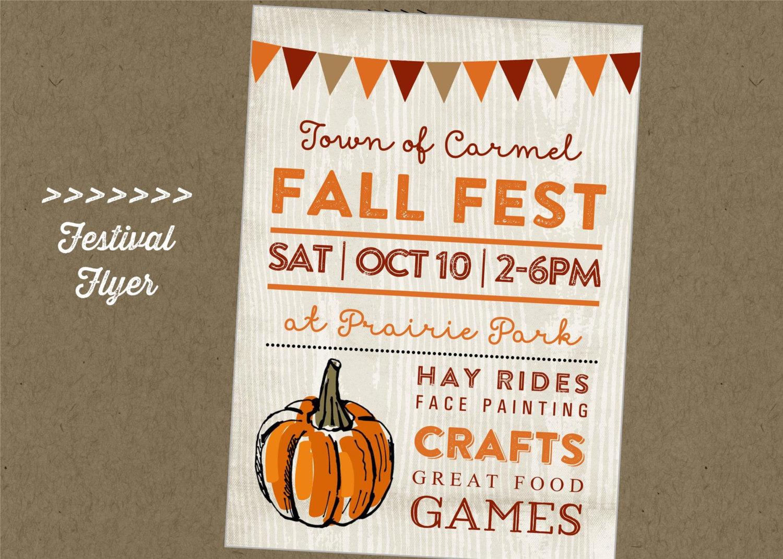 Fall Fest Printable Flyer Festival Craft Fair Vendor | Etsy - Free Printable Fall Festival Invitations