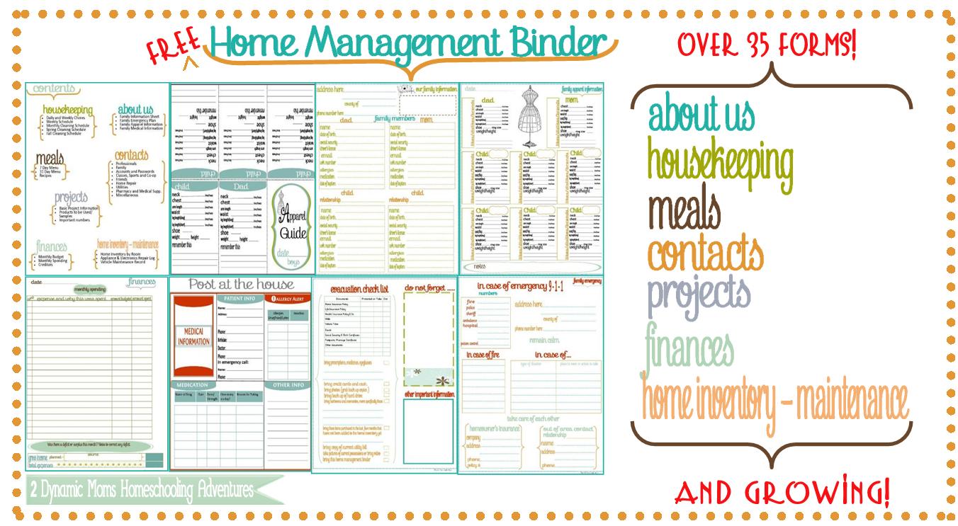 Family Home Binder - 6.9.kaartenstemp.nl • - Free Printable Home Organizer Notebook