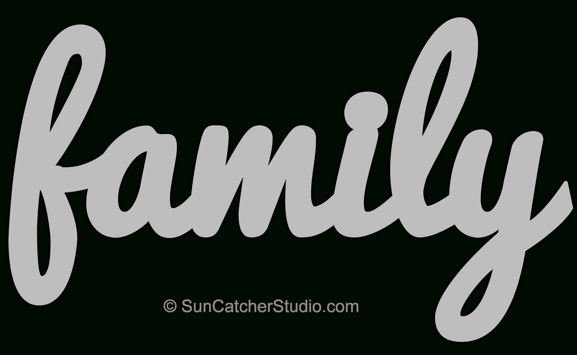 Family – Pattern, Template, Stencil, Printable Word Art Design - Scroll Saw Patterns Free Printable