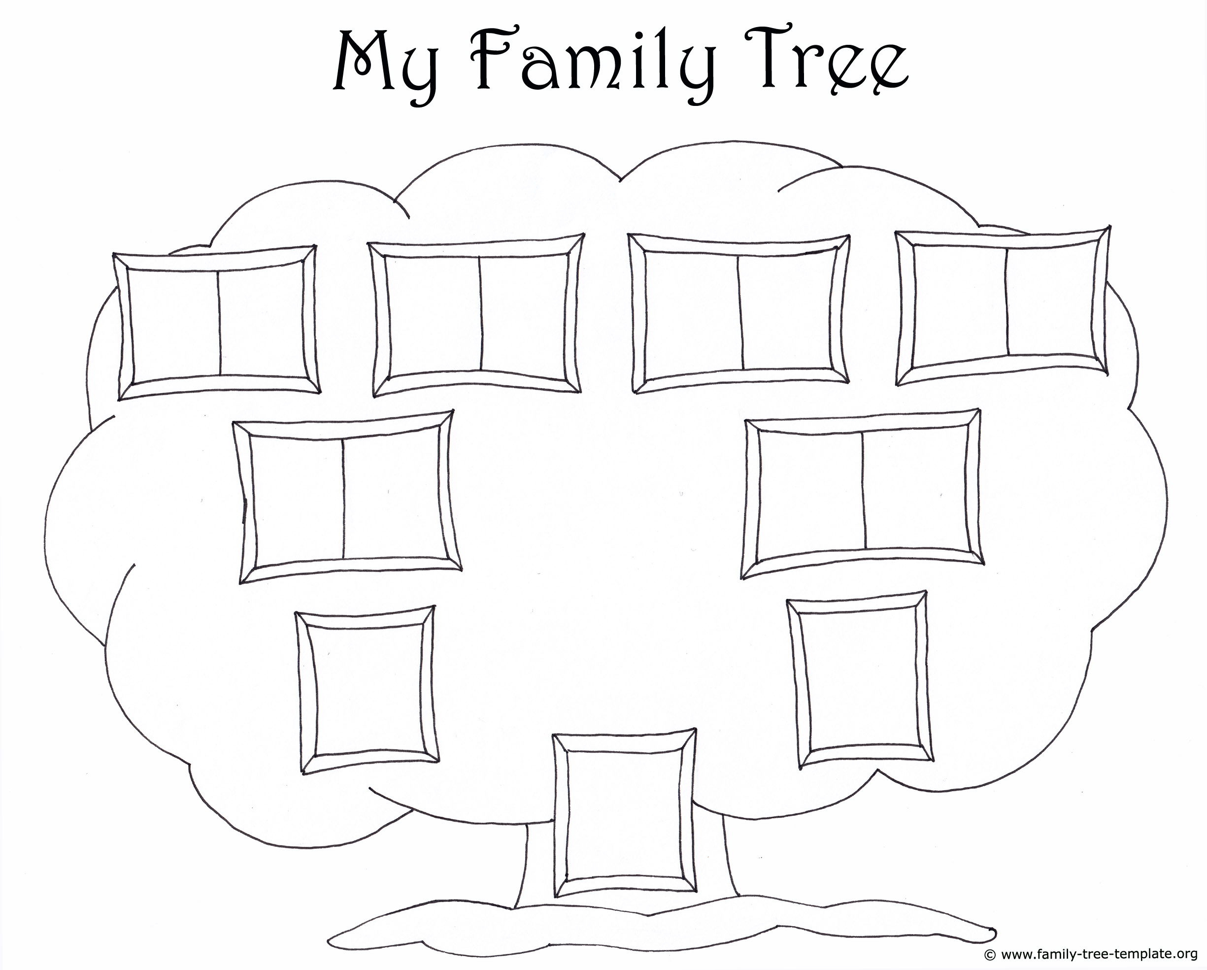 Family Tree Template For Kids: Printable Genealogy Charts - Free Printable Family Tree Template 4 Generations