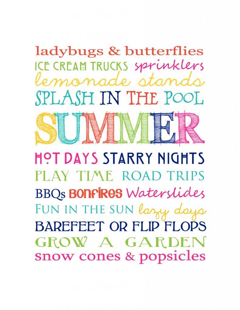 Fantastic And Fun - Free Printable Summer Subway Art! Print It - Free Printable Summer Pictures