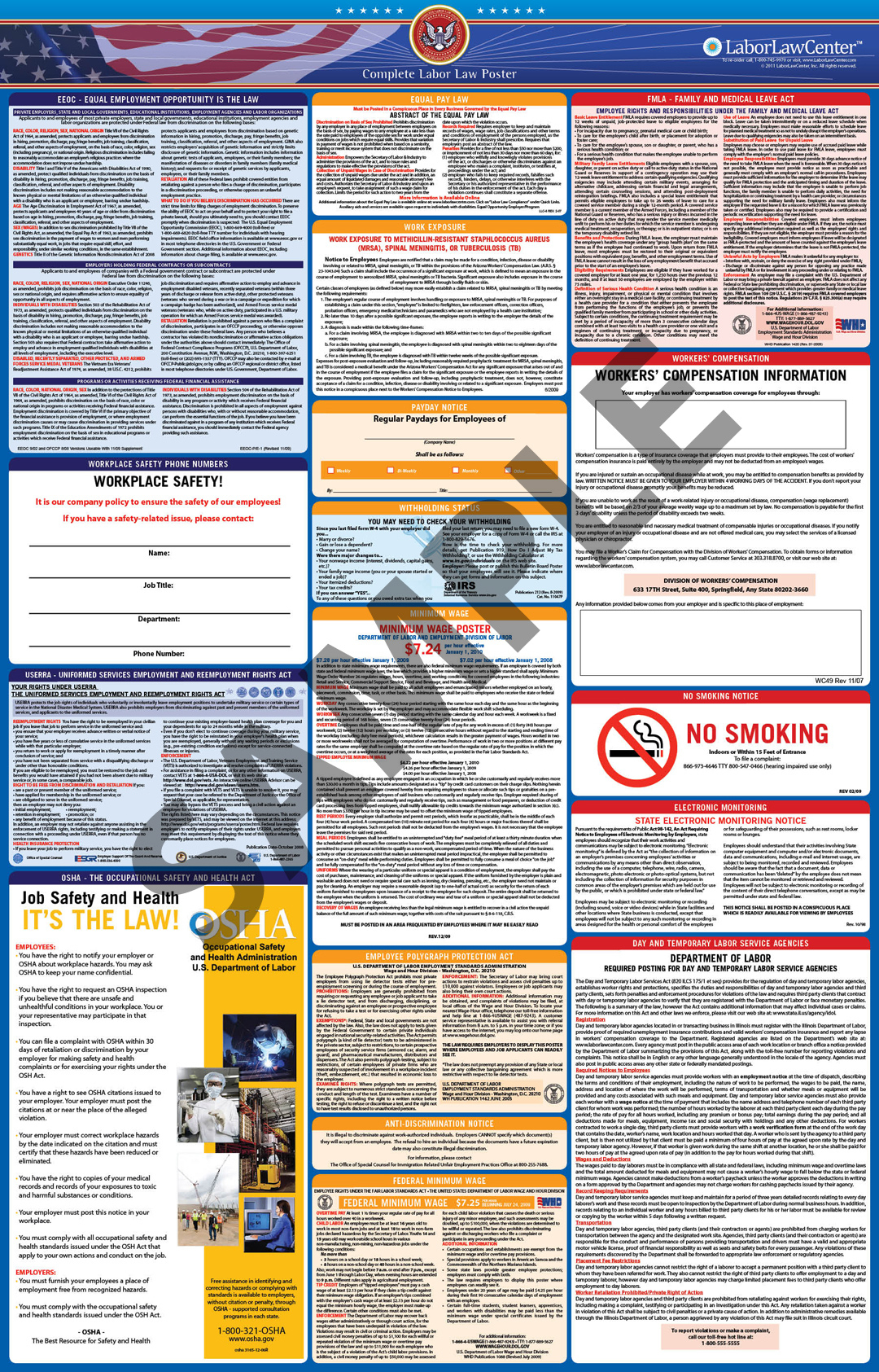 Faqs On Labor Law Posters   Laborlawcenter - Free Printable Osha Posters