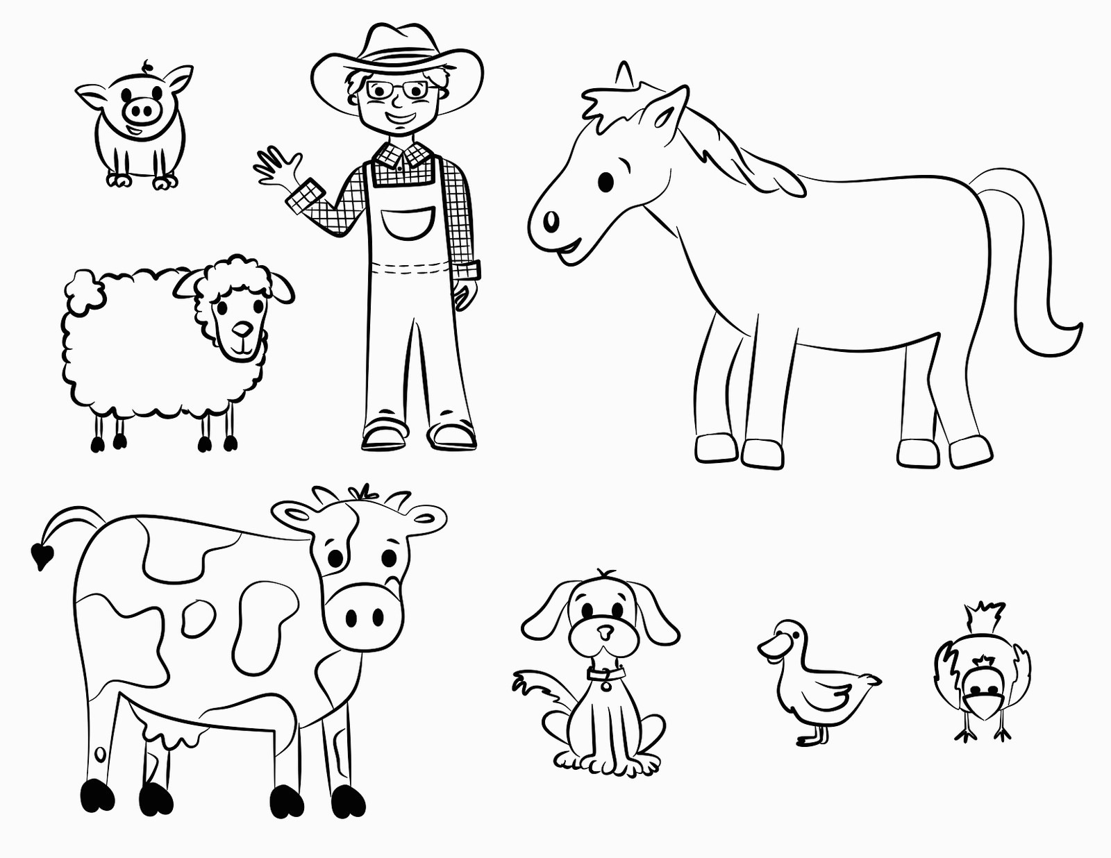 Farm Animal Coloring Sheets | Printable Coloring Pages - Free Printable Farm Animal Pictures