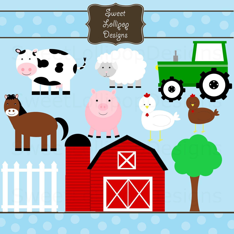 Farm Animal Free Printables   Farm Animals Digital Clip Art Clipart - Free Printable Farm Animal Pictures