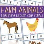 Farm Animals Beginning Letter Clip Cards | Farm | Pinterest | Farm – Free Printable Farm Animal Pictures