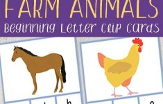 Farm Animals Beginning Letter Clip Cards | Farm | Pinterest | Farm – Free Printable Farm Animal Pictures