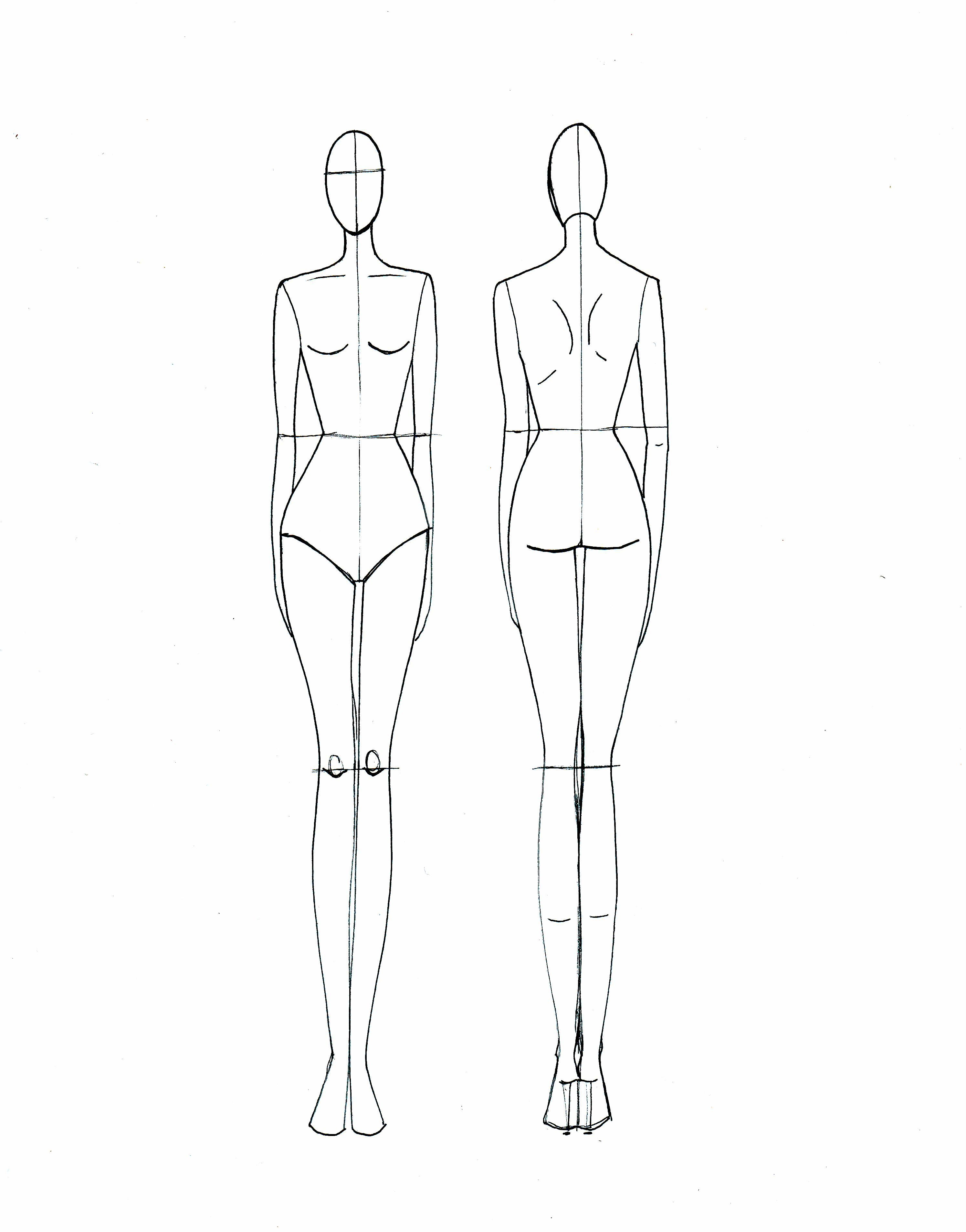 Fashion Drawing Template | For A Rainy Day | Fashion Illustration - Free Printable Fashion Model Templates