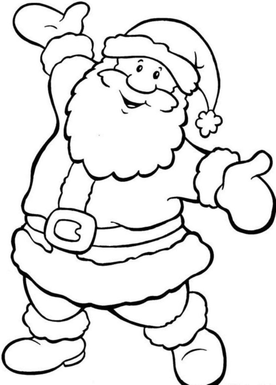 Father Christmas Colouring Pages To Print | Wood-Burning | Christmas - Santa Coloring Pages Printable Free
