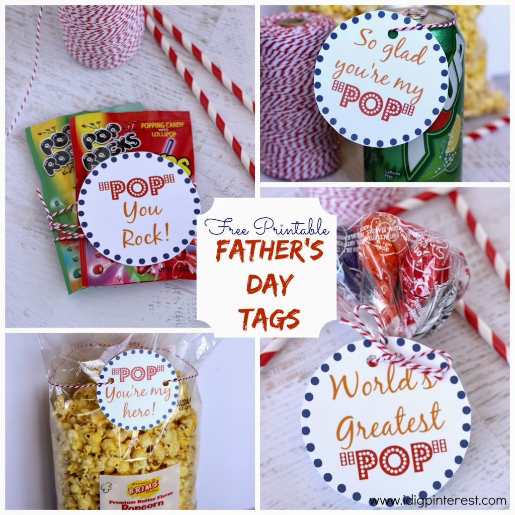 "Father's Day ""pop"" {Free Printables} - I Dig Pinterest - Free Printable Father's Day Labels"
