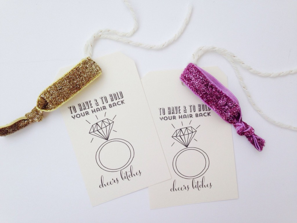 Favourite Etsy Finds - Hen Party & Bridal Shower Ideas - You Mean - To Have And To Hold Your Hair Back Free Printable