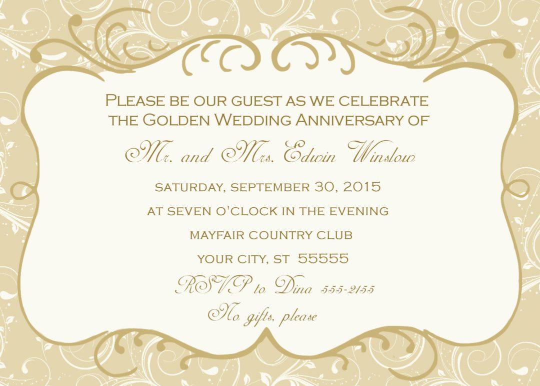Fbeafdd Luxury 60Th Wedding Anniversary Invitations Free Templates - Free Printable 60Th Wedding Anniversary Invitations