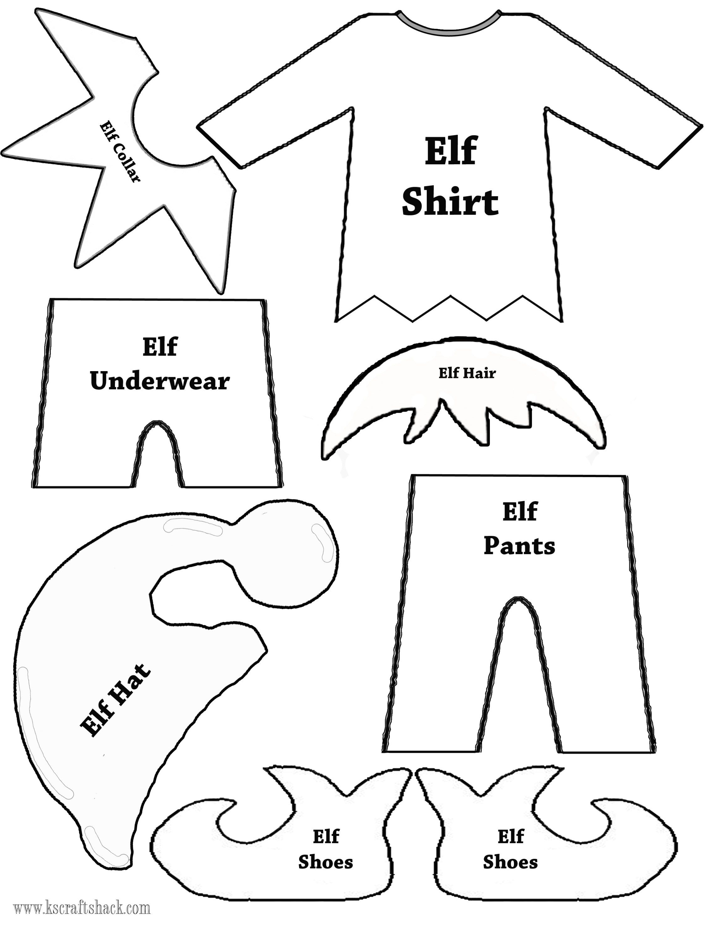 Felt Elf On The Shelf Doll | Christmas Decor | Pinterest | Christmas - Free Printable Elf Pattern