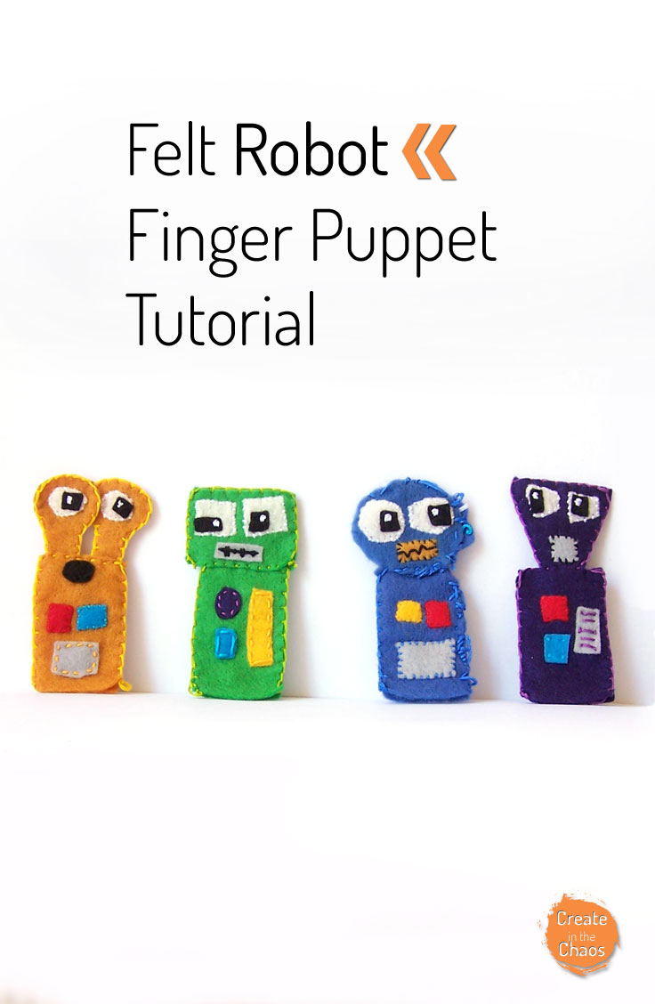 Felt Robot Finger Puppets - Create In The Chaos - Free Printable Finger Puppet Templates