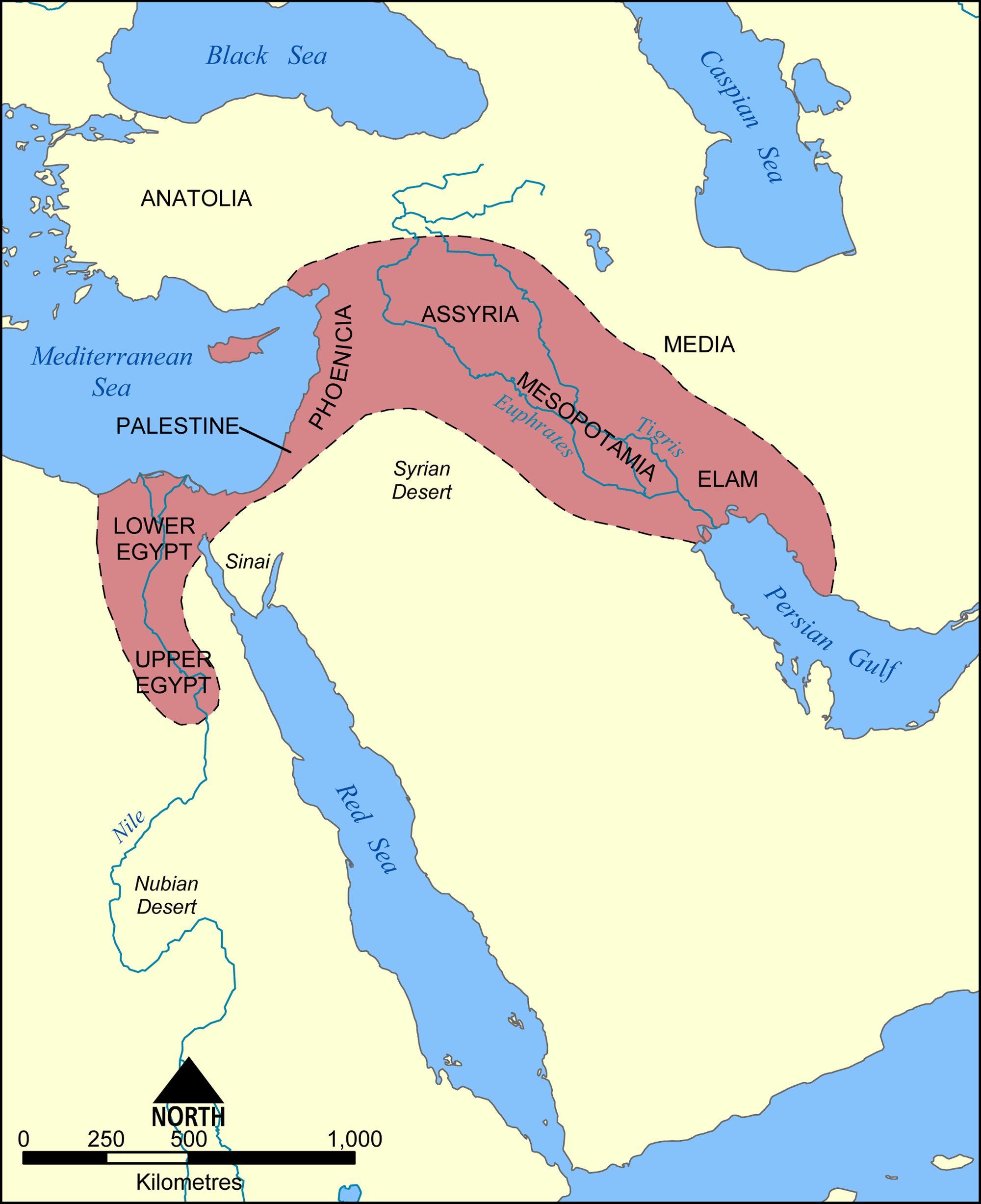 Fertile Crescent Map - Color Week 1 | Cycle 1 Geo | Ancient - Free Printable Map Of Mesopotamia