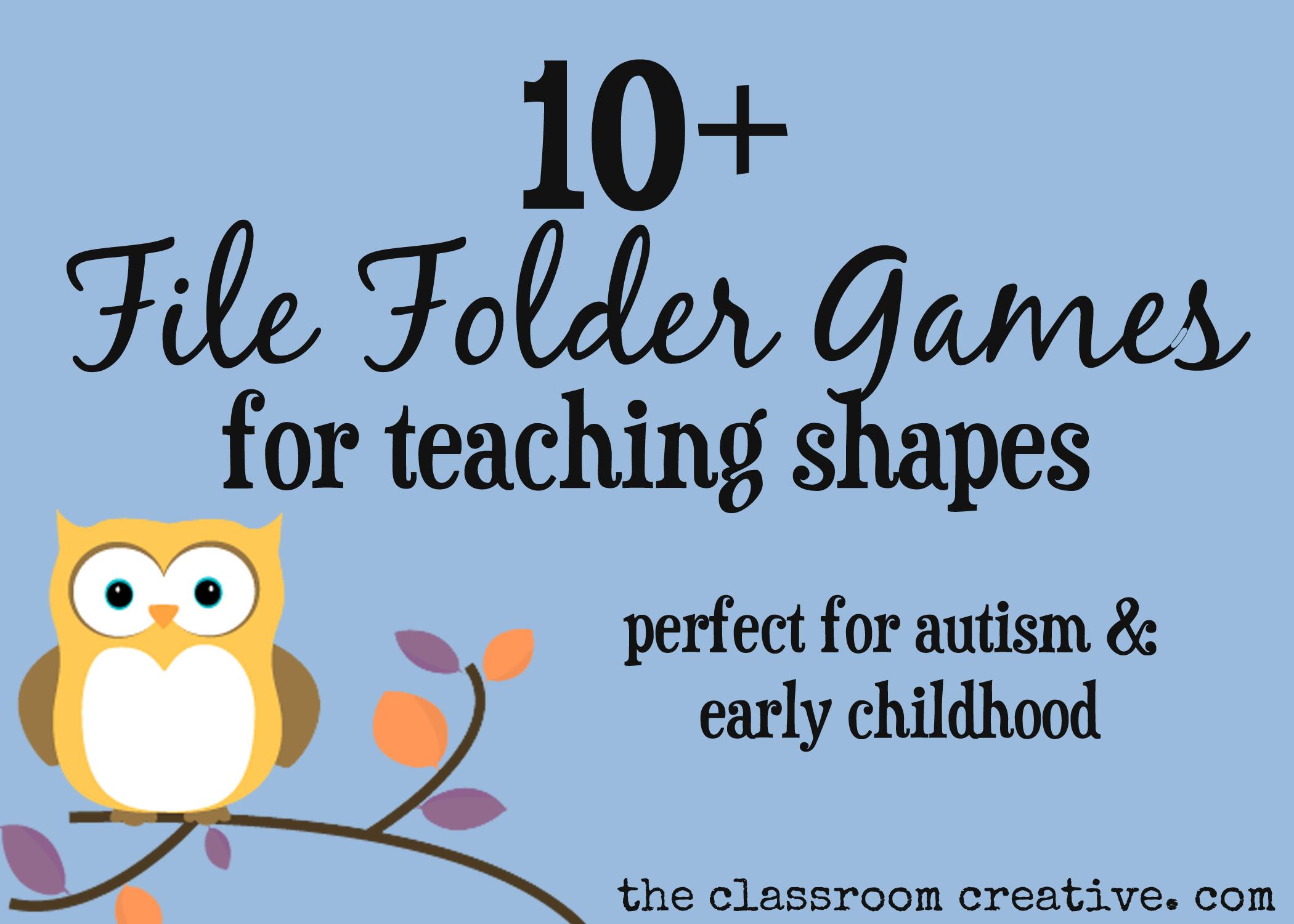 File Folder Games For Teaching Shapes - Free Printable Preschool Folder Games