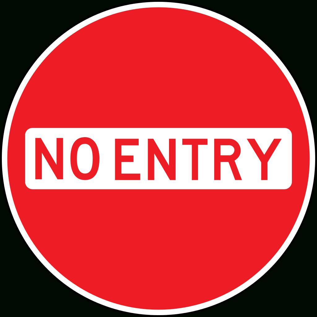 File:bahamas - No Entry.svg - Wikipedia - Free Printable No Entry Sign