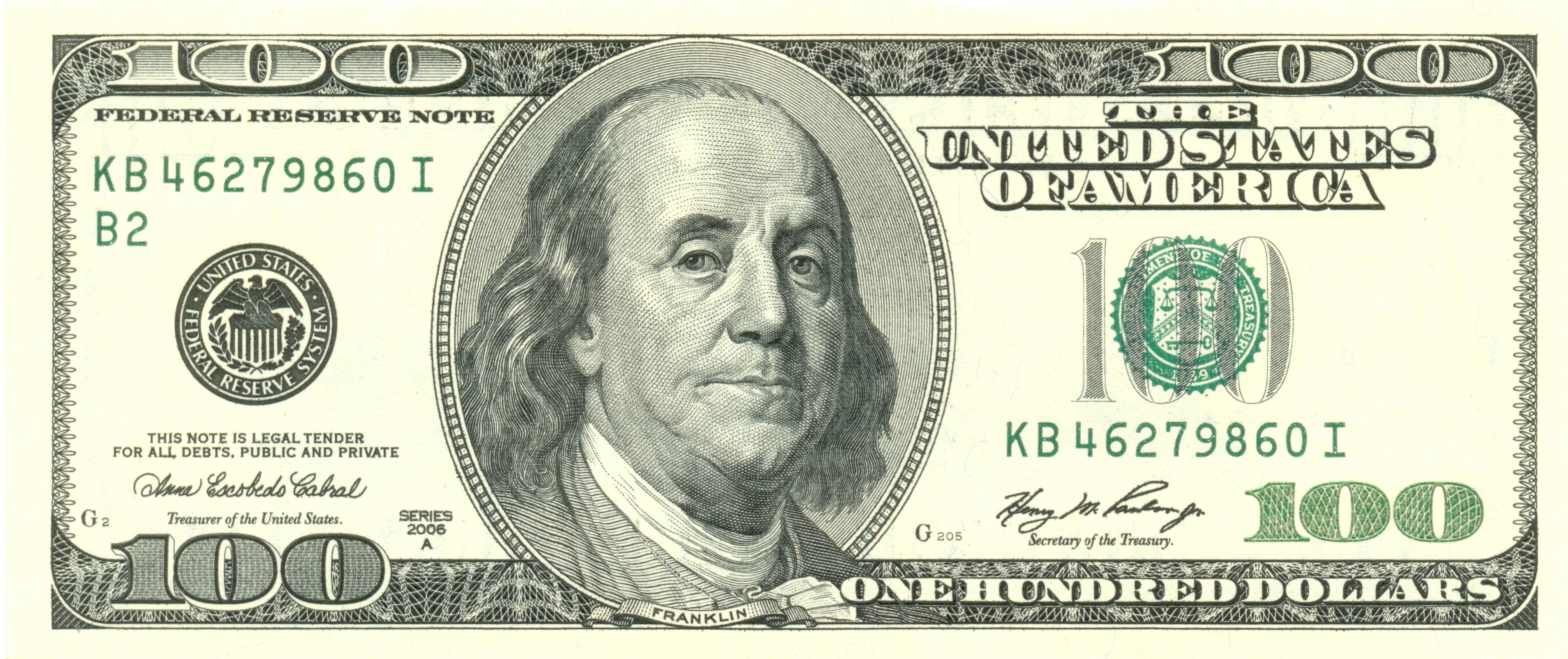 File:usdollar100Front - Wikimedia Commons - Free Printable 100 Dollar Bill