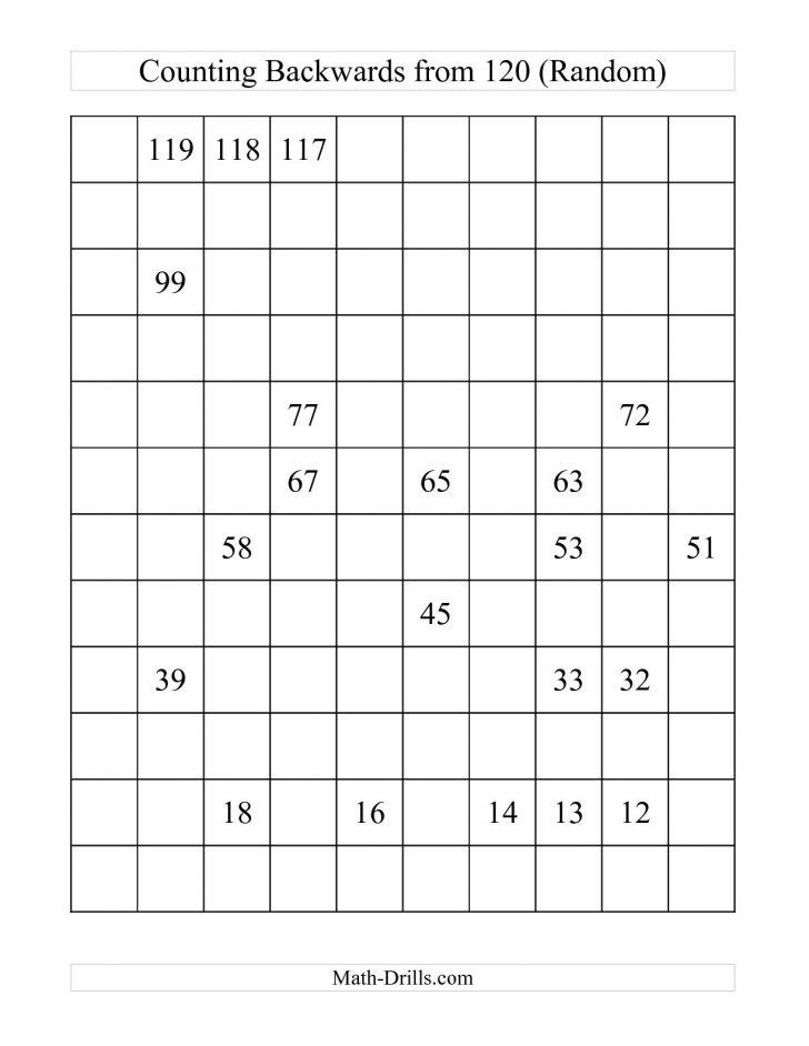 Free Printable Blank 1 120 Chart