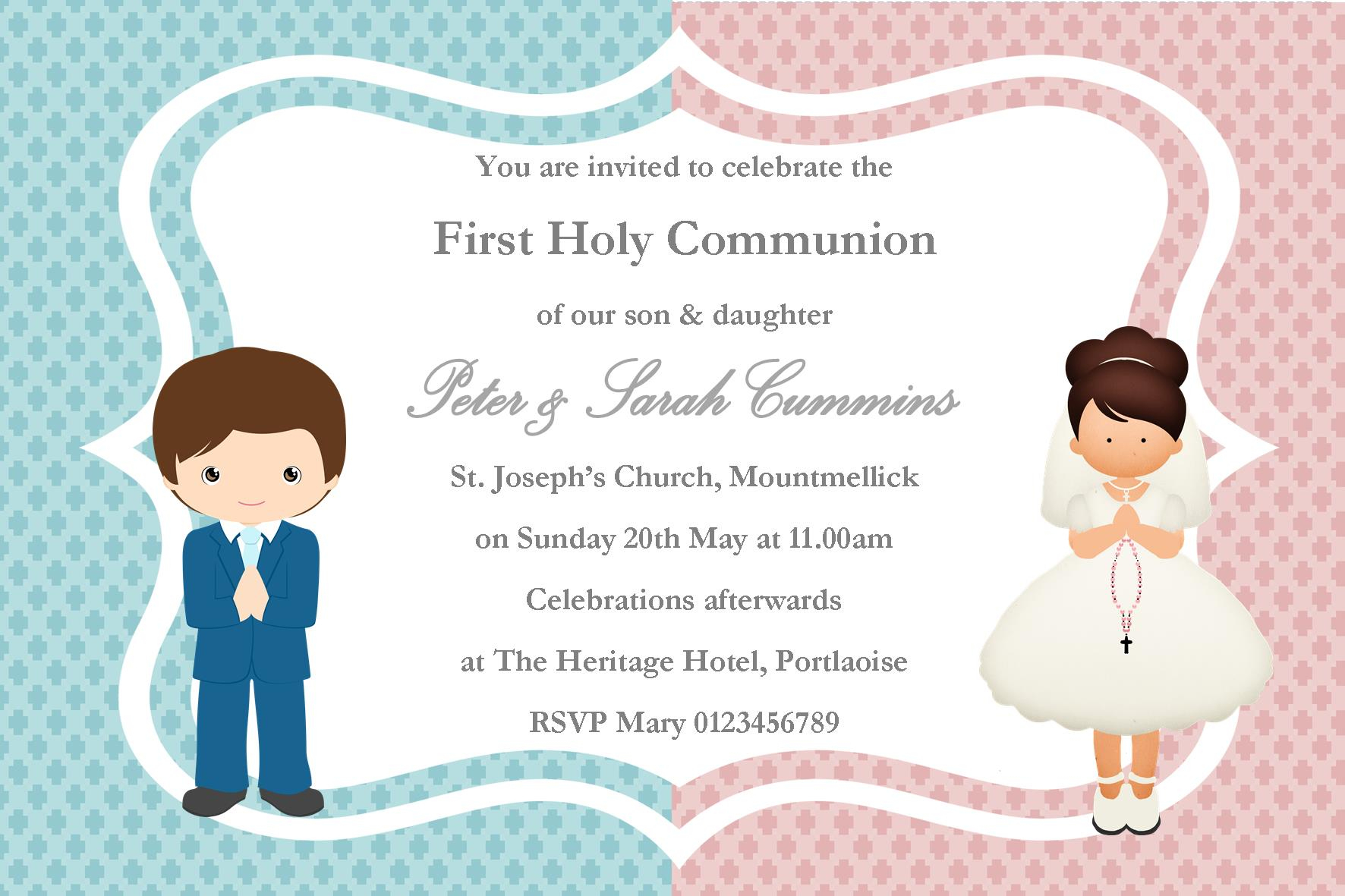 First Communion Party Invitations First Communion Party Invitations - Free Printable First Communion Invitation Templates