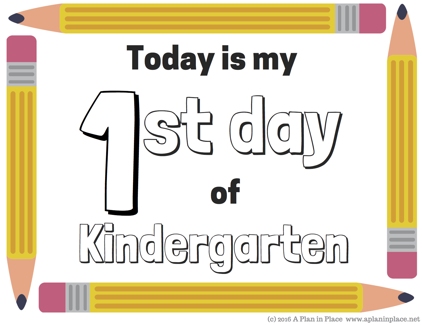 First Day Kindergarten Certificate - Www.sham.store • - Free Printable First Day Of School Certificate
