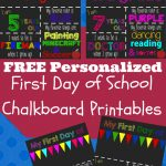 First Day Of School Printable Chalkboard Sign | Invitation Ideas   First Day Of School Printable Free