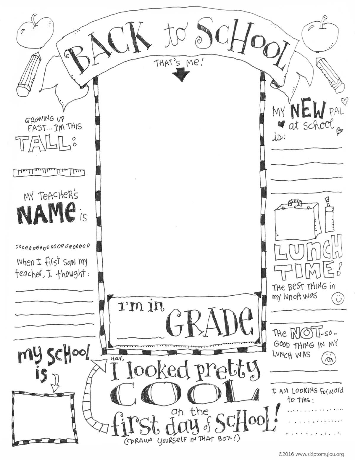 First Day Of School Printable Coloring Page - 18.5.kaartenstemp.nl • - Free Printable First Day Of School Coloring Pages