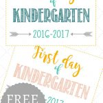 First Day Of School Signs: Free Printables *pre School  12Th Grade*   First Day Of School Printable Free