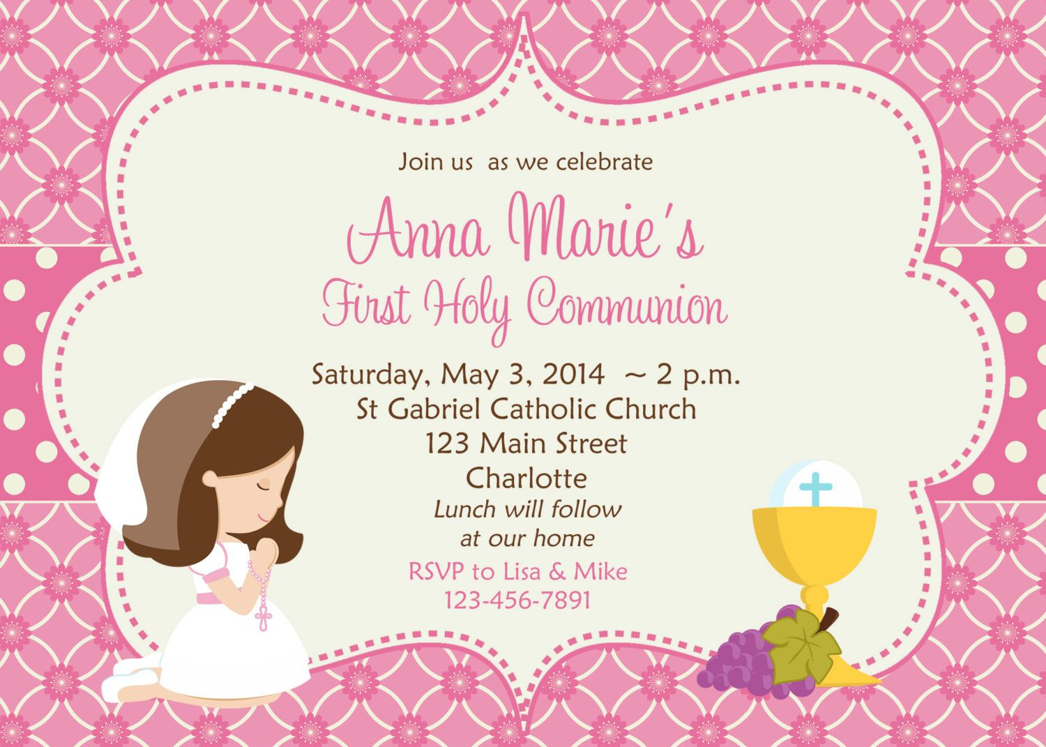 First+Holy+Communion+Invitation+Cards+Free   Sara's First Holy - Free Printable 1St Communion Invitations