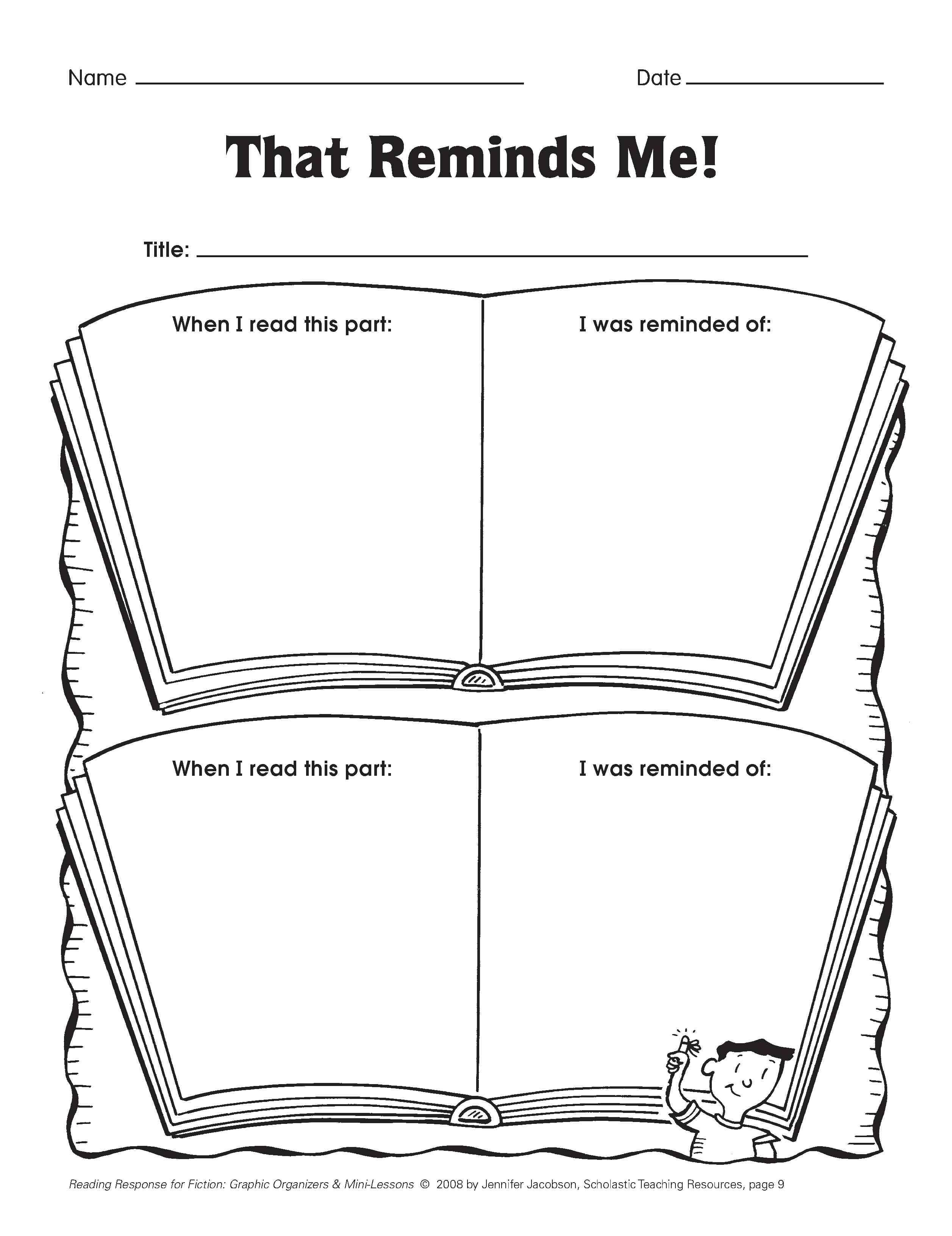 Five Minute Reading Responses | Scholastic - Free Printable Pre K Reading Books