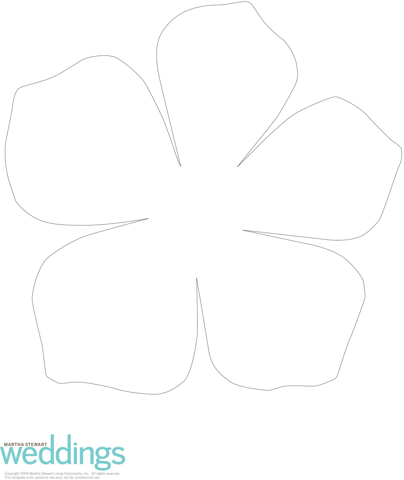 Five Petal Flower Clip Art Clipart Collection - 5 Petal Flower Template Free Printable