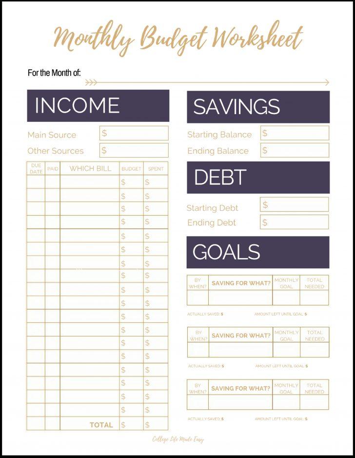Free Printable Budget Forms
