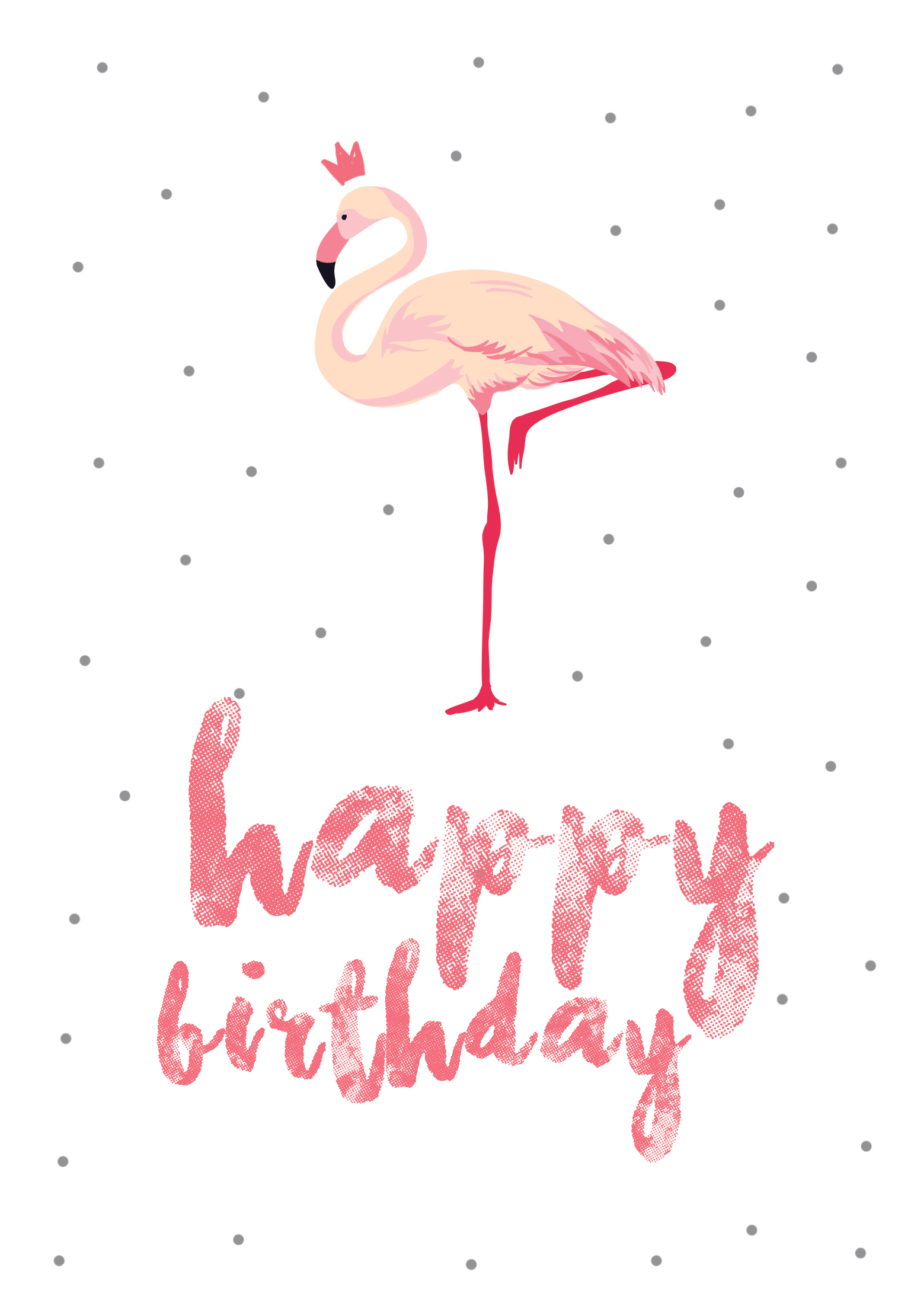 Flamingo Birthday - Free Printable Birthday Card | Greetings Island - Free Printable Birthday Cards For Her