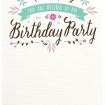 Flat Floral   Free Printable Birthday Invitation Template   21St Birthday Invitation Templates Free Printable