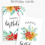Floral Birthday Cards | Free Birthday Card Printables | Birthday   Free Printable Birthday Cards For Mom From Son
