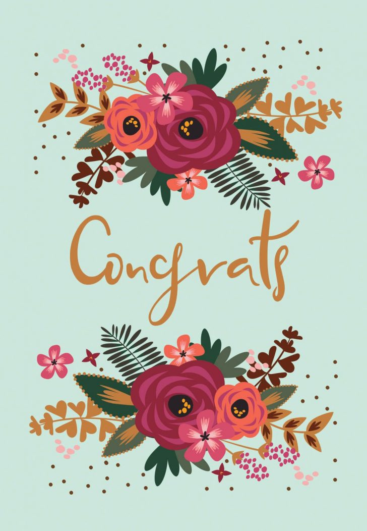 Free Printable Wedding Congratulations Greeting Cards