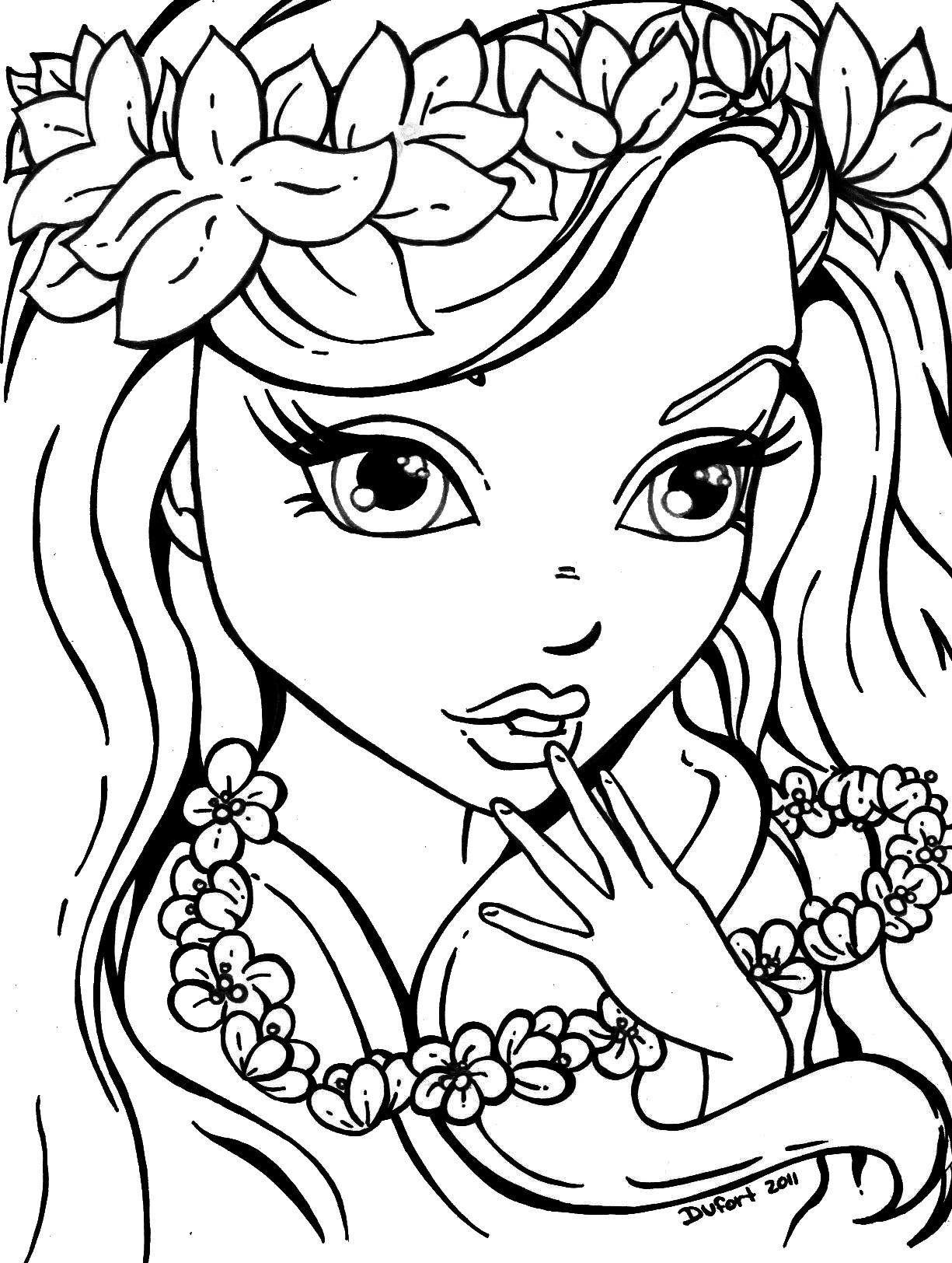 Flowers_Girl | Stamps, Coloring Pages | Pinterest | Coloring Pages - Free Printable Coloring Pages For Teens