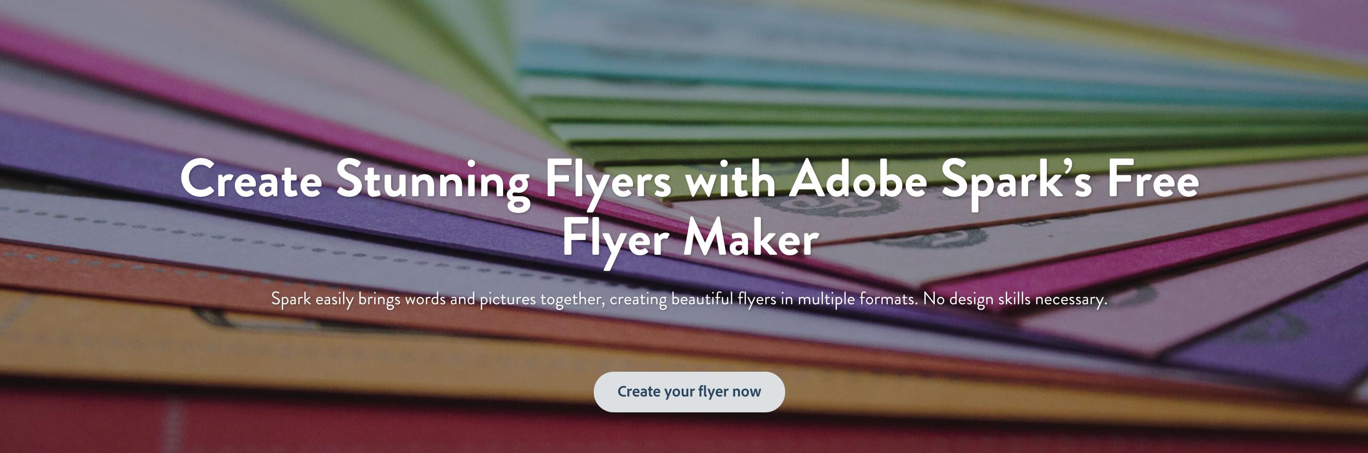 Flyer Maker: Create Beautiful Flyers For Free   Adobe Spark - Free Printable Flyer Maker Online