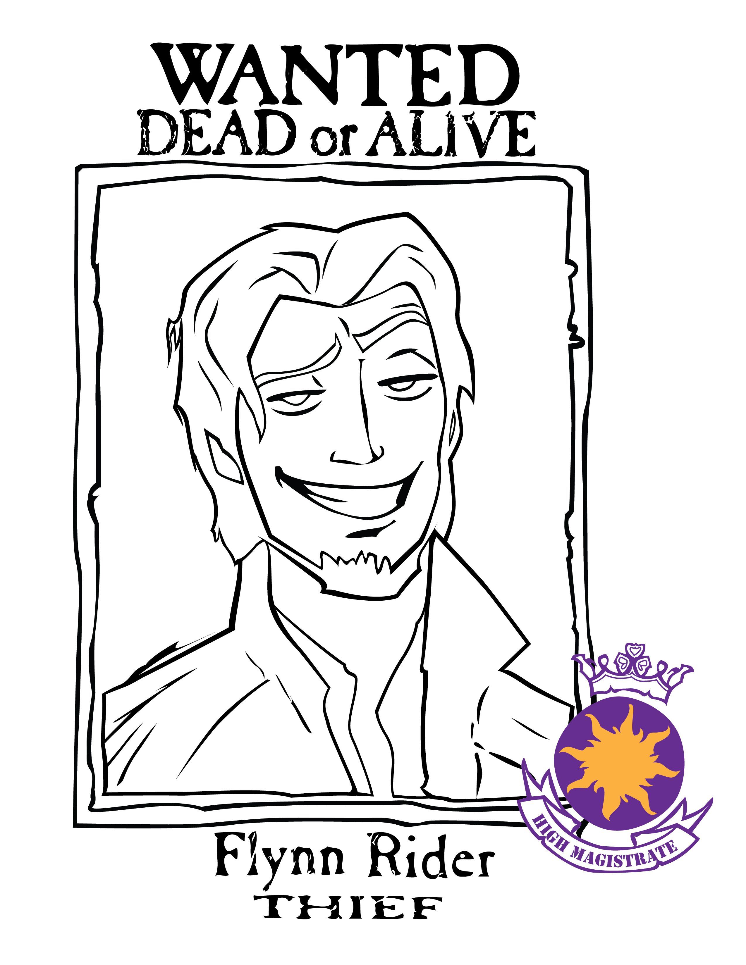 Flynn Rider Wanted Poster | A Tangled Party:) In 2019 | Pinterest - Free Printable Flynn Rider Wanted Poster