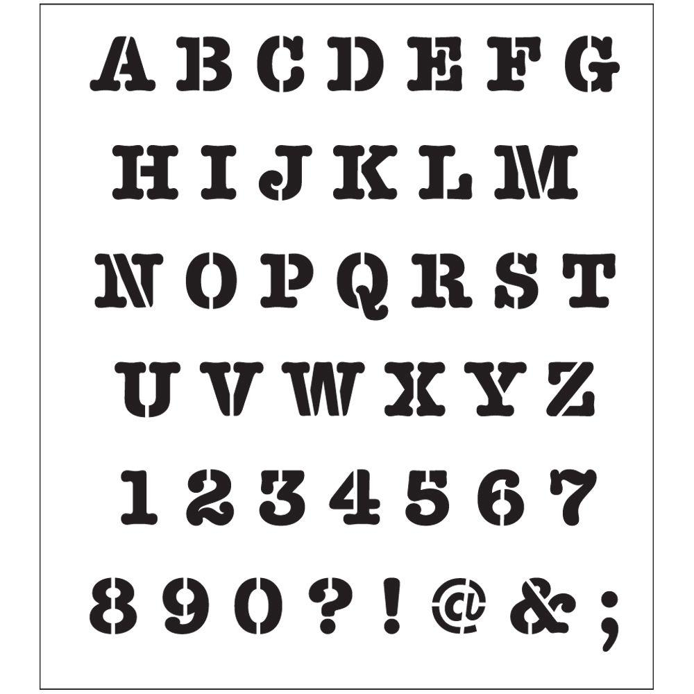 Folkart Alphabet Heavy Typewriter Laser Printing Stencil-30738 - The - Free Printable Fonts Stencils