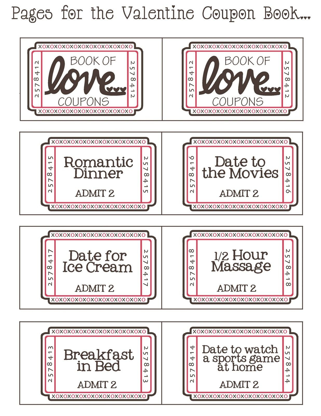 Follow Link For Some Great Free Blank Printable Vouchers   Stickers - Free Printable Coupon Book For Boyfriend