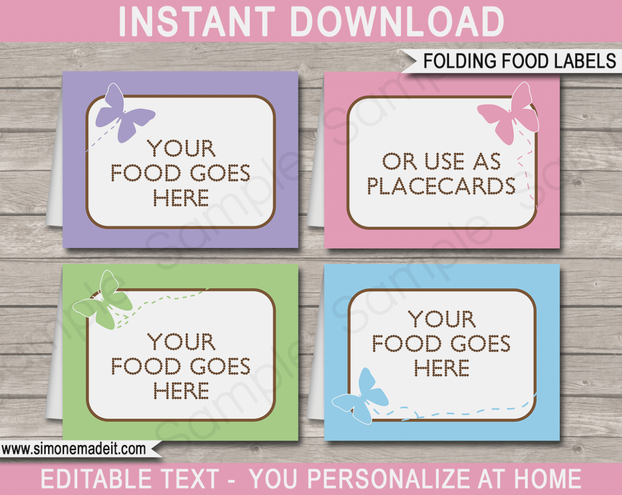 Food Cards For Buffet Template – Keni.candlecomfortzone – Label - Free Printable Food Tags For Buffet