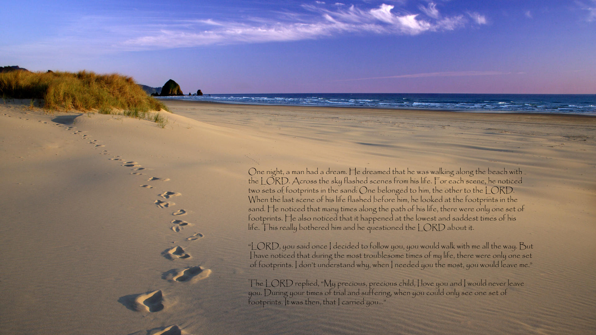 Footprints In The Sand Hd Wallpaper | Background Image | 1920X1080 - Footprints In The Sand Printable Free