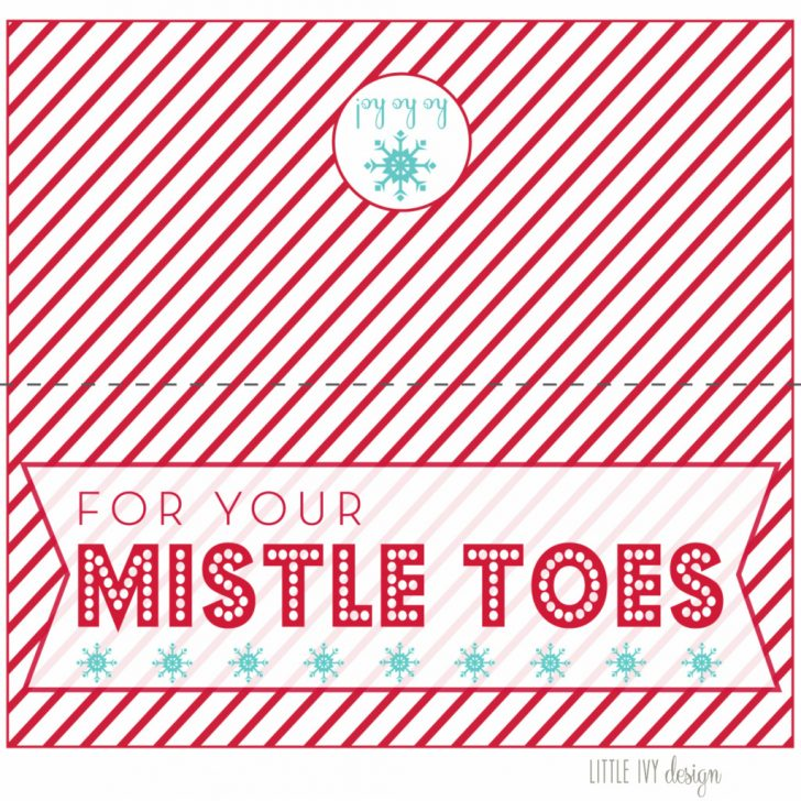 Free Printable Mistletoe Tags
