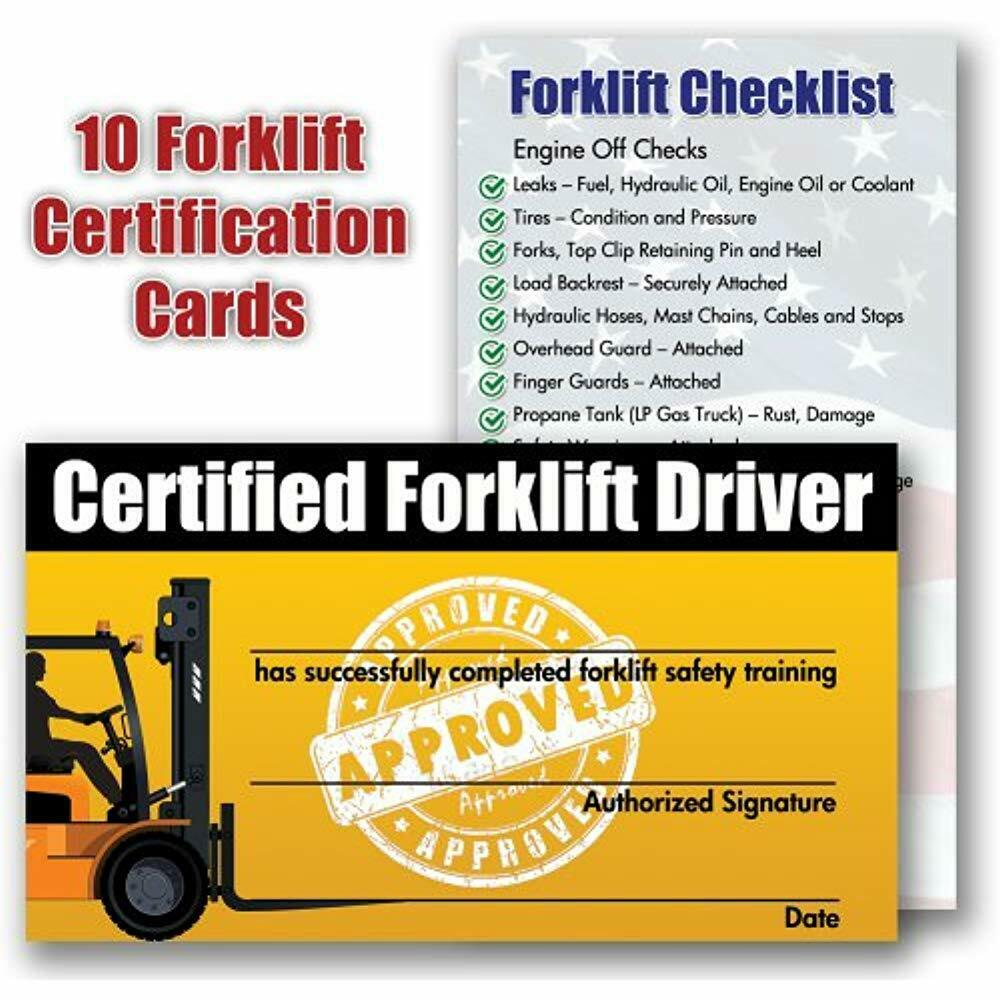 Forklift Certification Gallery - Free Certificates For All - Free Printable Forklift Certification Cards