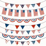 Fourth Of July Bunting Clipart   Free Printable Clipart For August
