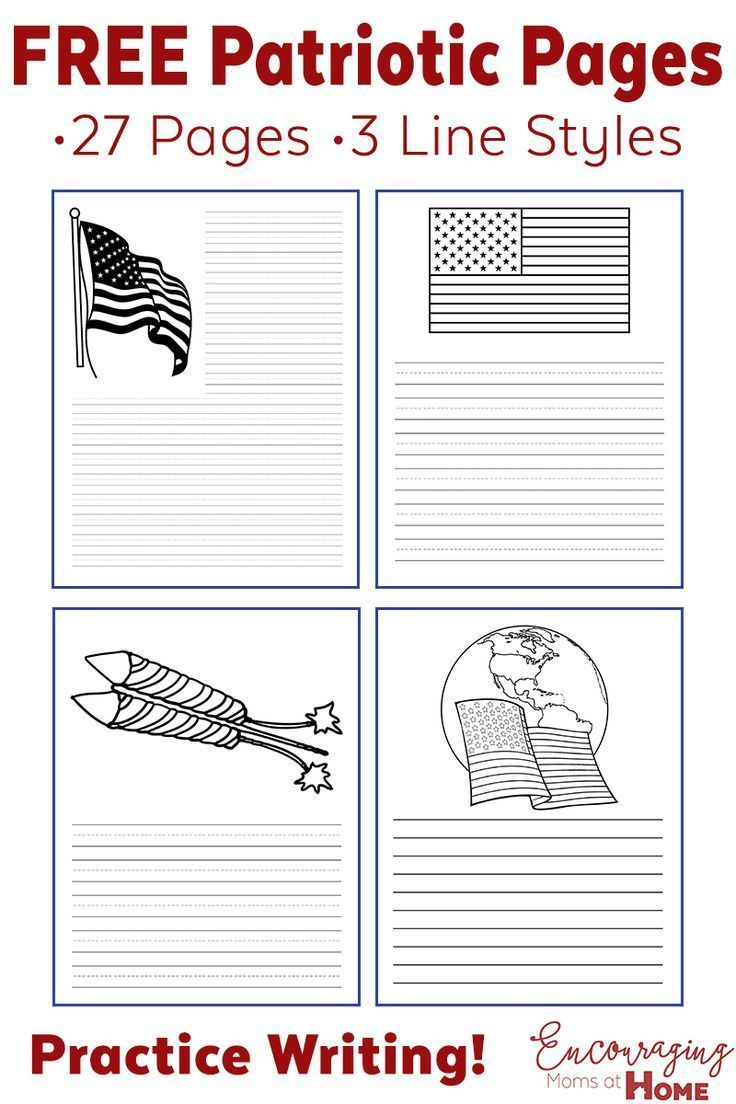 Fourth Of July Ideas: Free Printables - Writing Paper And More - Free Printable Patriotic Writing Paper