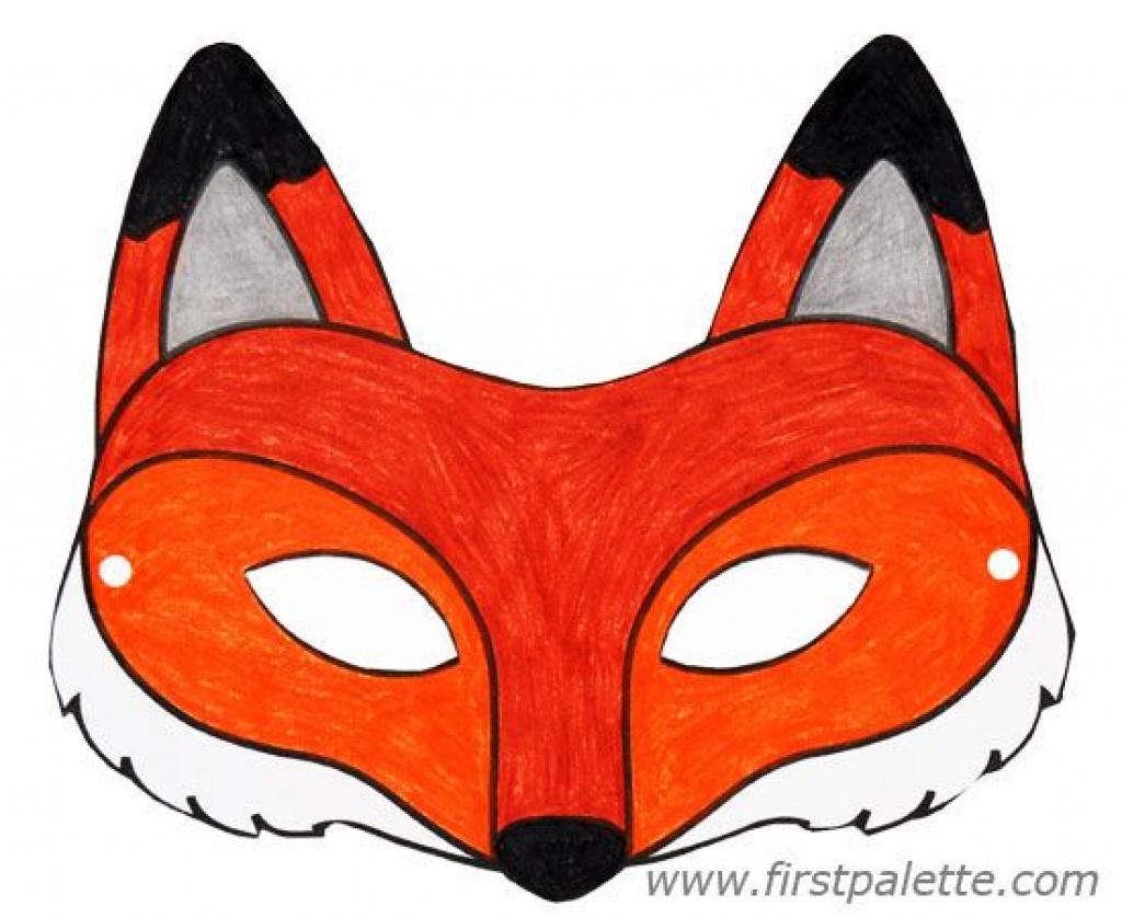 Fox Mask And Other Free Printable Animal Masks | Printable Animal - Free Printable Fox Mask Template
