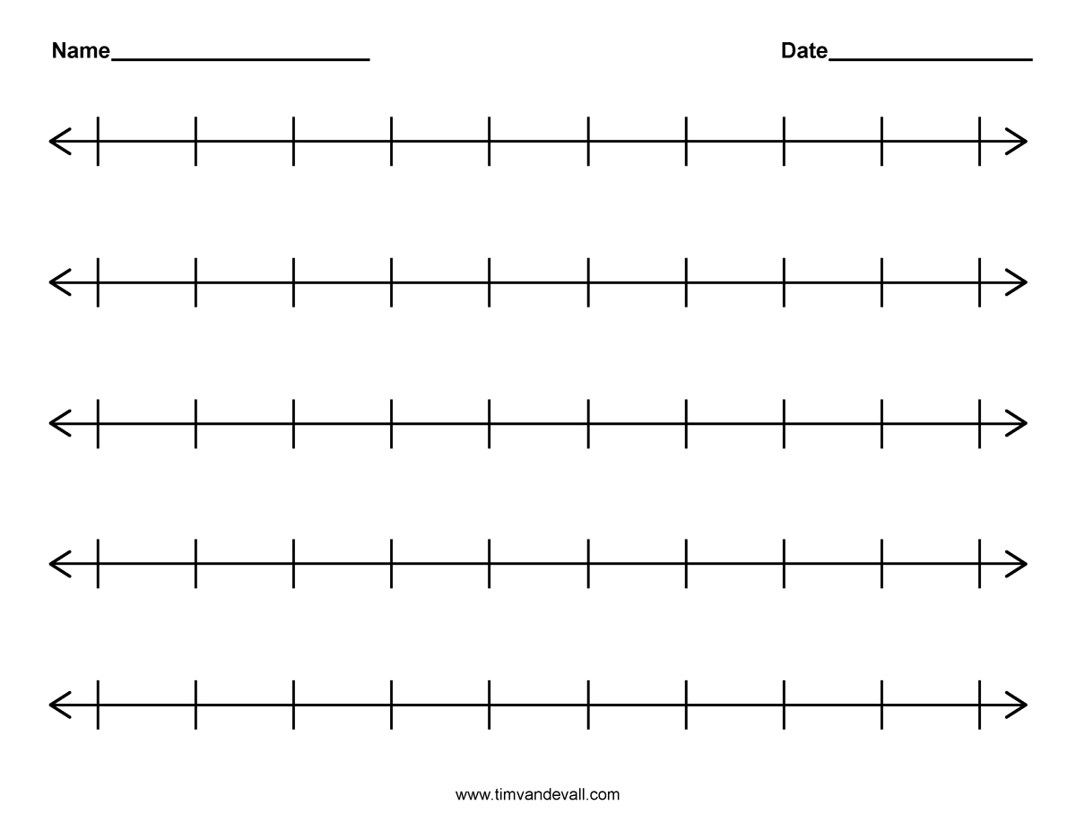 Fractions On A Number Line 3Rd Grade Worksheets To Free - Math - Free Printable Number Line For Kids
