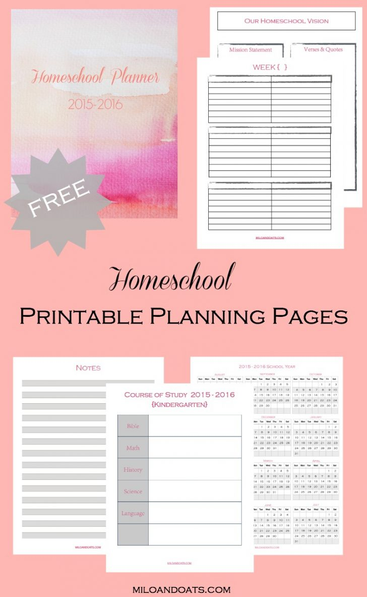 Homeschool Lesson Planner Free Printable