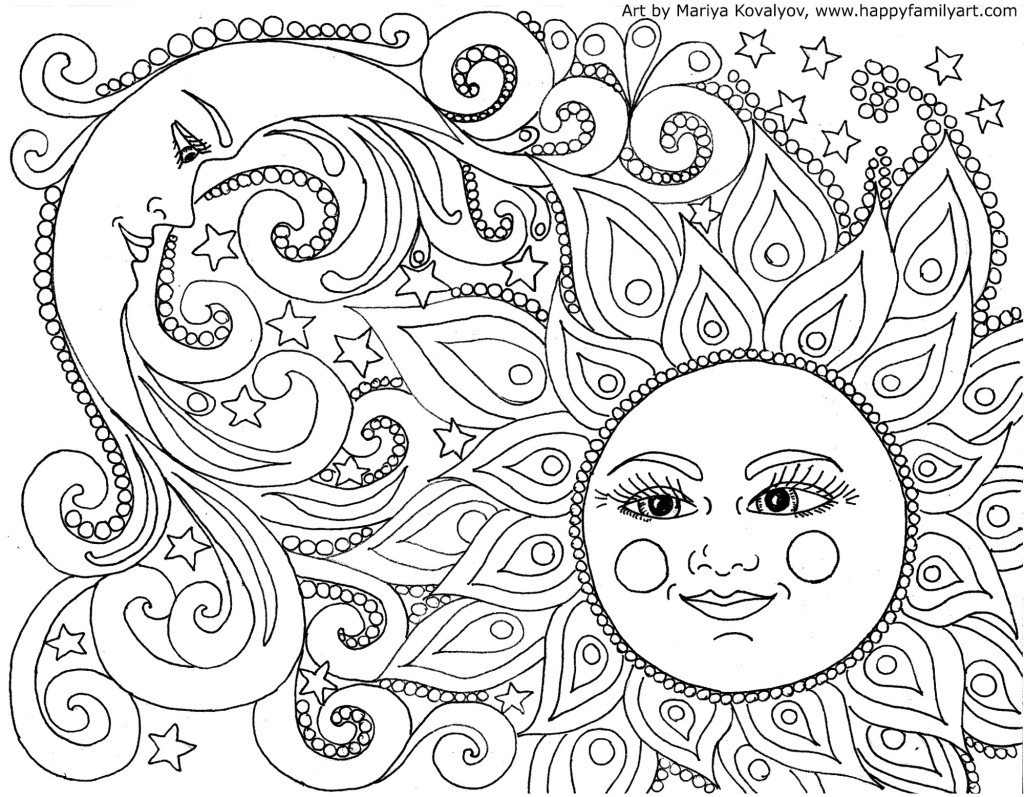 Free Adult Coloring Pages - Happiness Is Homemade - Free Printable Coloring Sheets